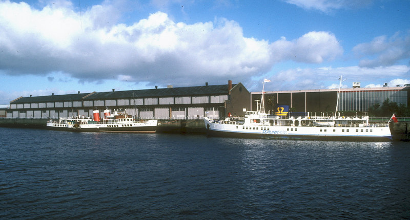 MV Southsea on the Clyde in 1987